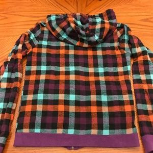 Hurley Tops - Hurley Reversible Sweatshirt Hoodie Purple Plaid